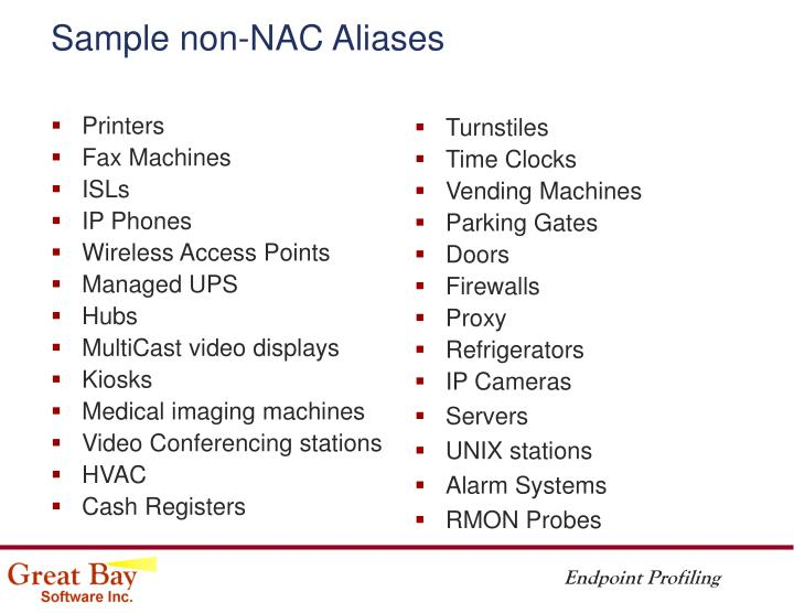 Sample non-NAC Aliases