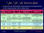12 l be 6 l h 7 l h known data