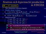 neutron rich hypernuclei production in finuda