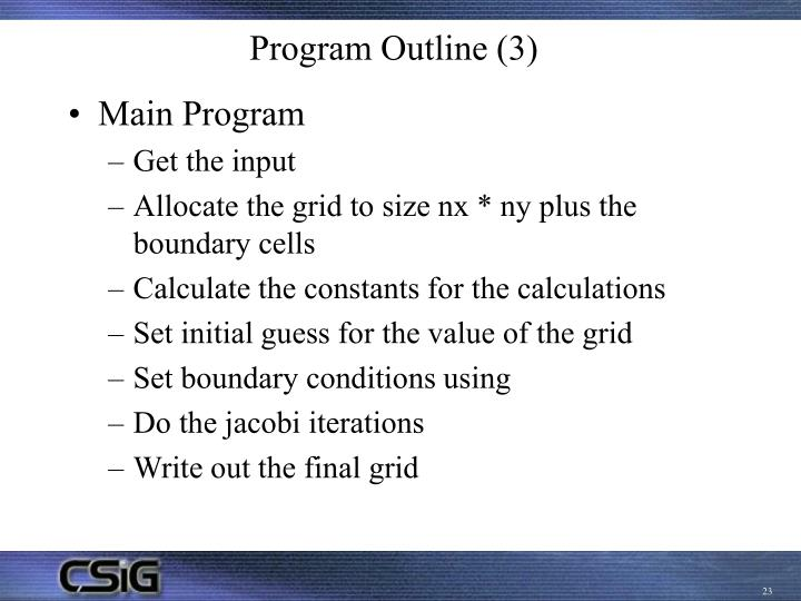 Program Outline (3)