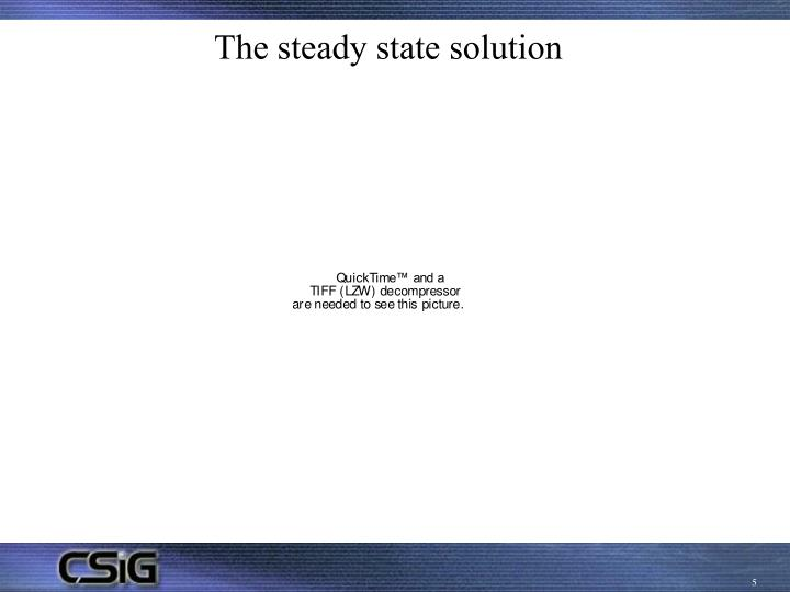 The steady state solution