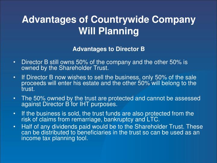 Advantages of Countrywide Company Will Planning