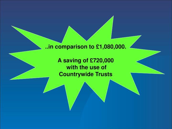 ..in comparison to £1,080,000.