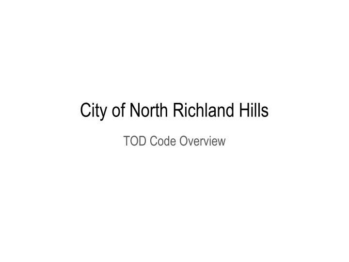 city of north richland hills n.