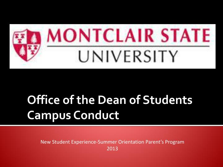 office of the dean of students campus conduct n.