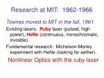 research at mit 1962 1966