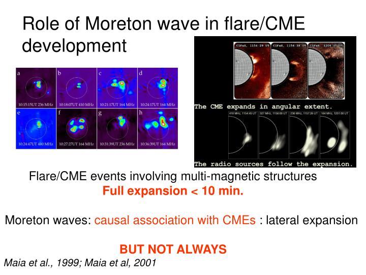 Role of Moreton wave in flare/CME development