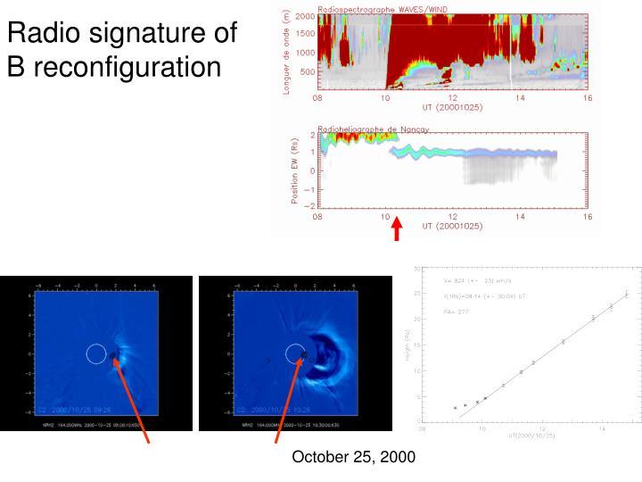 Radio signature of