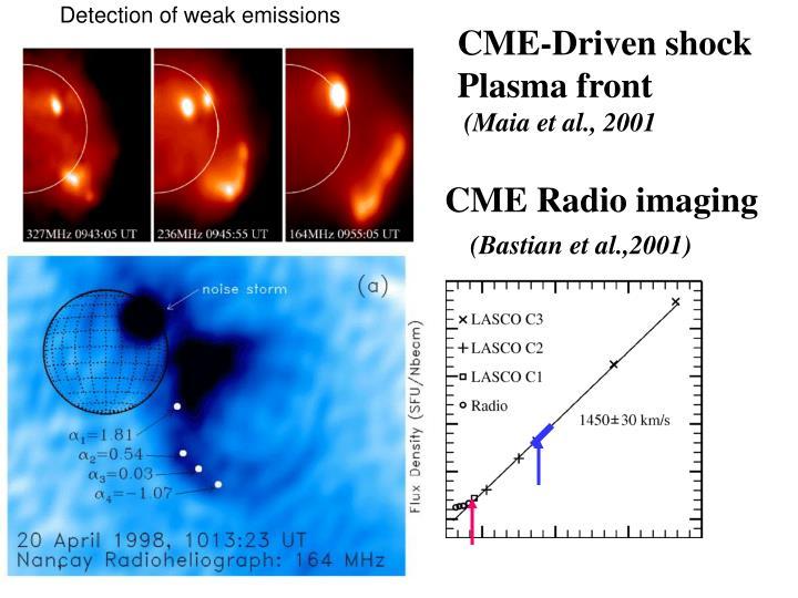 Detection of weak emissions