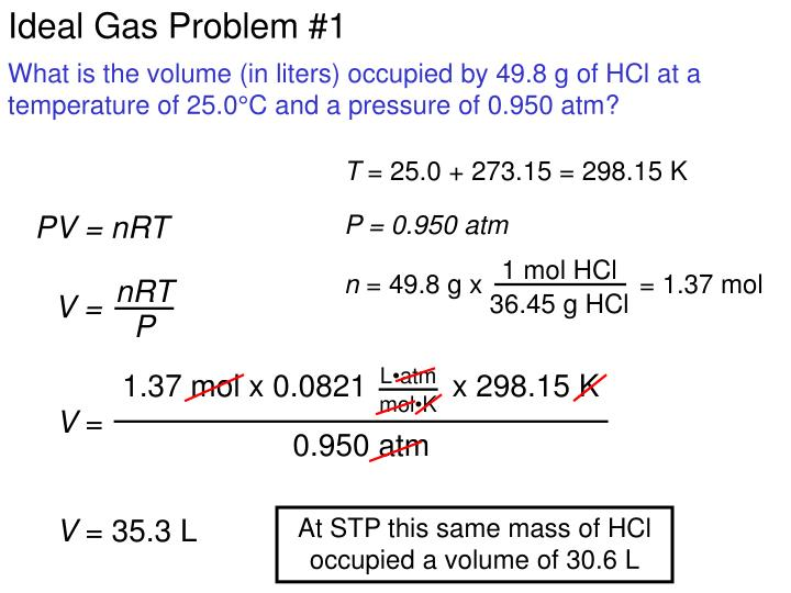 Ideal Gas Problem #1