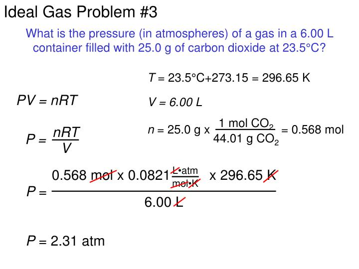 Ideal Gas Problem #3