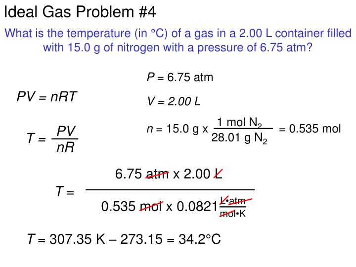 Ideal Gas Problem #4
