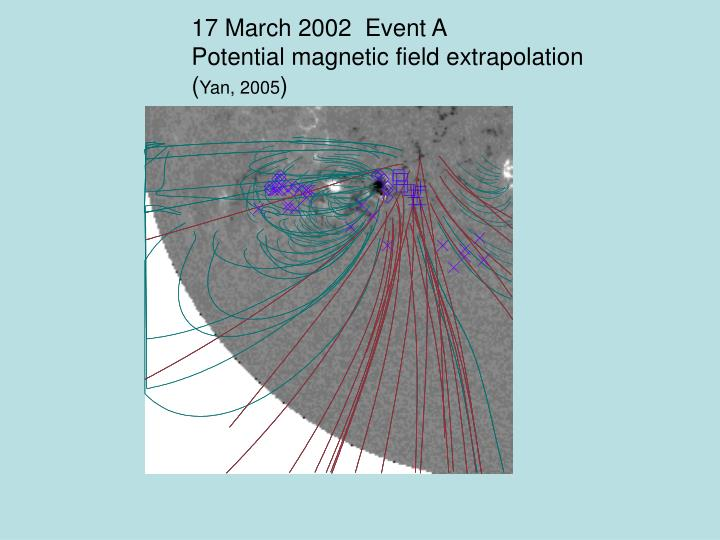 17 March 2002  Event A