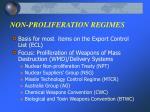 non proliferation regimes