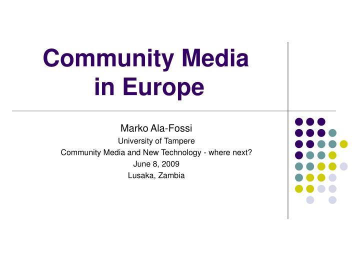 Community media in europe