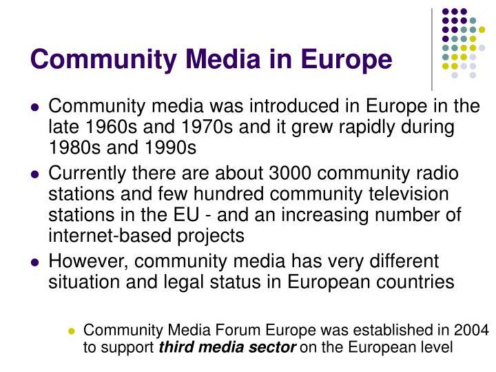 Community media in europe1
