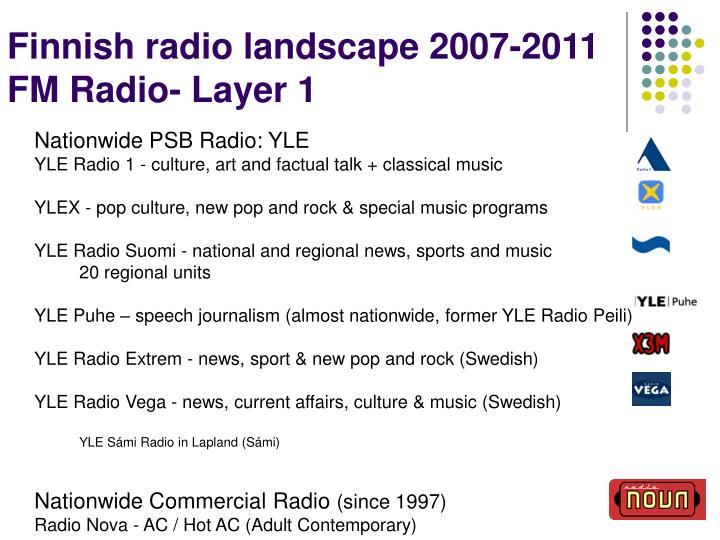 Finnish radio landscape 2007-2011
