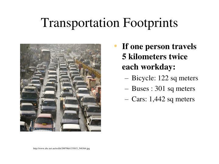 Transportation Footprints