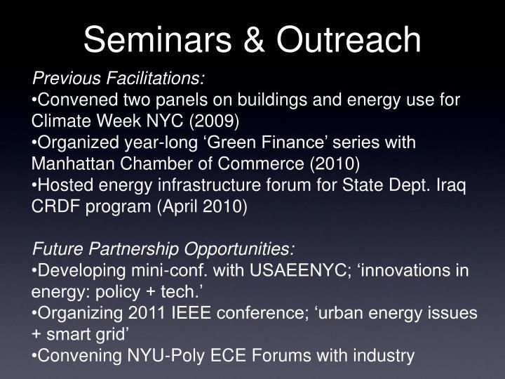 Seminars & Outreach