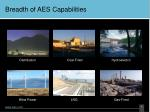 breadth of aes capabilities