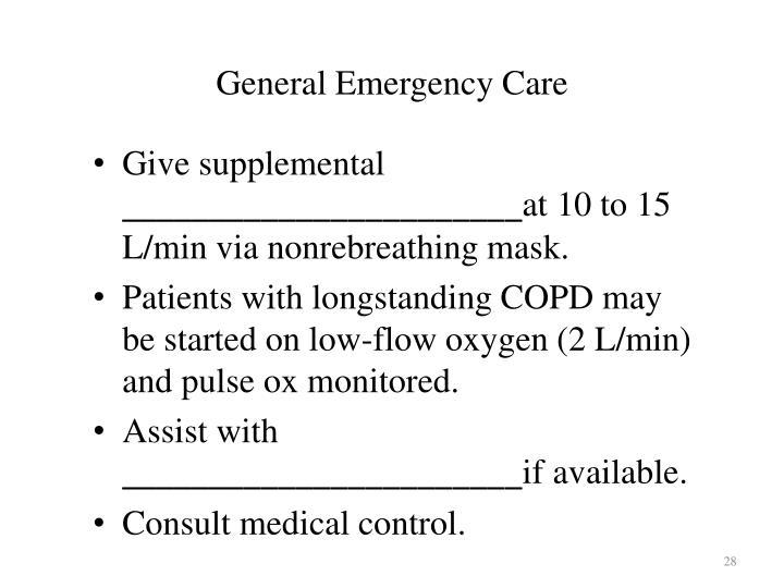 General Emergency Care