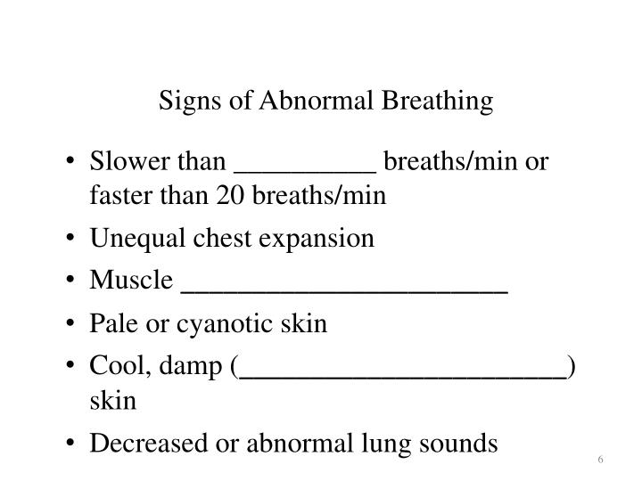 Signs of Abnormal Breathing