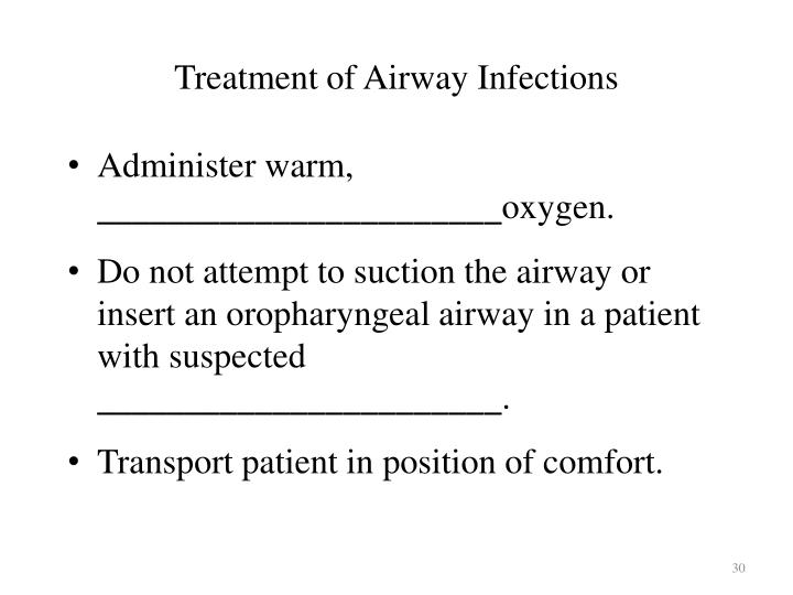 Treatment of Airway Infections