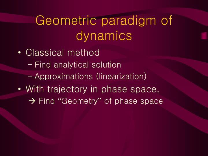 Geometric paradigm of dynamics