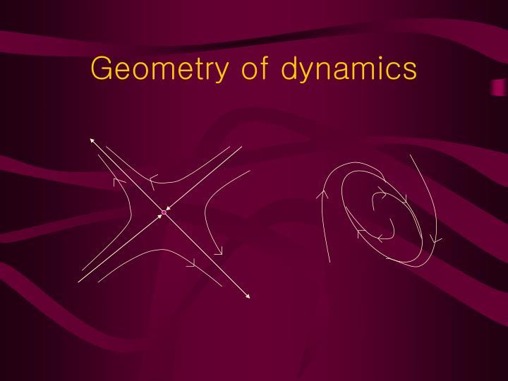 Geometry of dynamics
