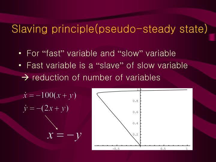 Slaving principle(pseudo-steady state)