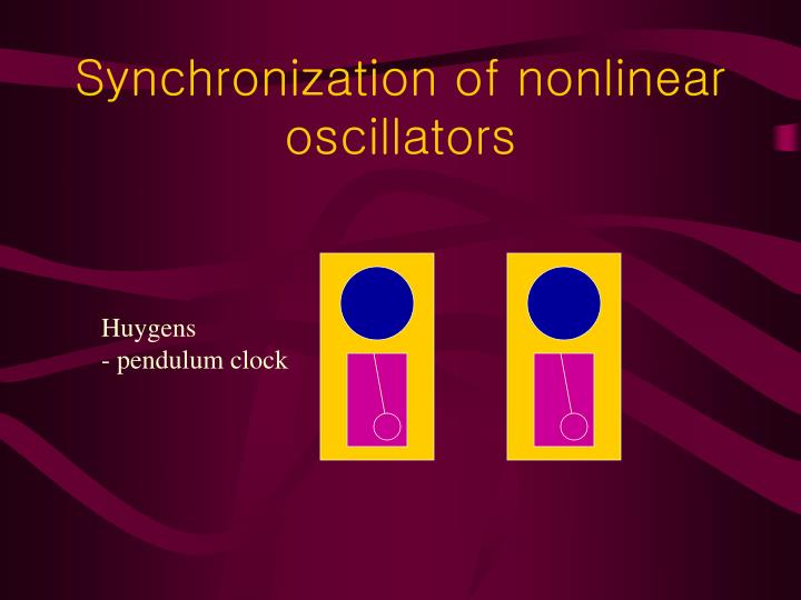 Synchronization of nonlinear oscillators