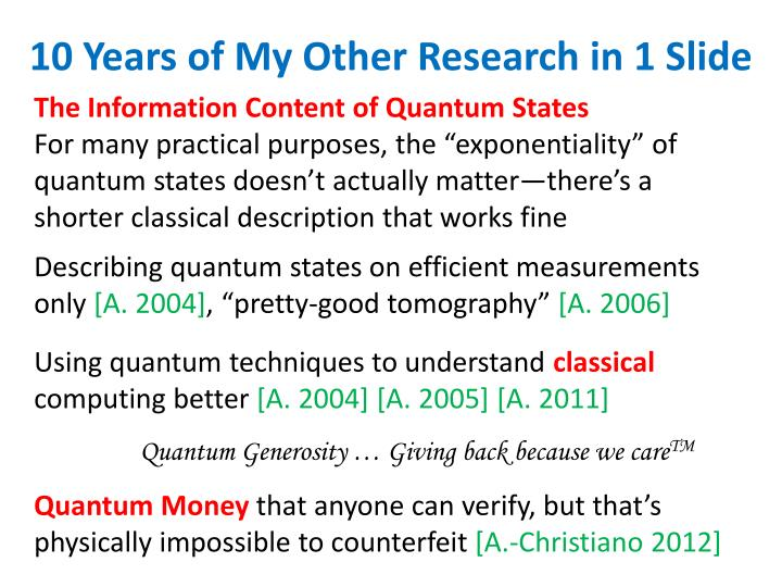 The Information Content of Quantum States