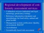 regional development of con formity assessment services