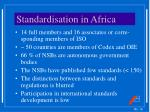 standardisation in africa