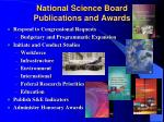 national science board publications and awards