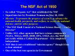 the nsf act of 1950