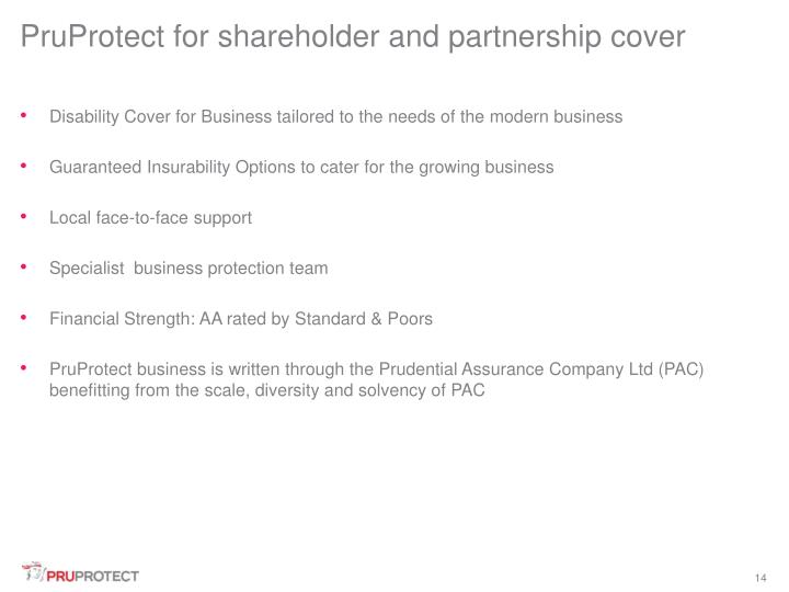 PruProtect for shareholder and partnership cover