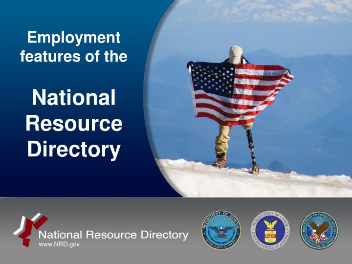 Employment features of the national resource directory