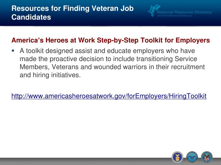 Resources for Finding Veteran Job Candidates