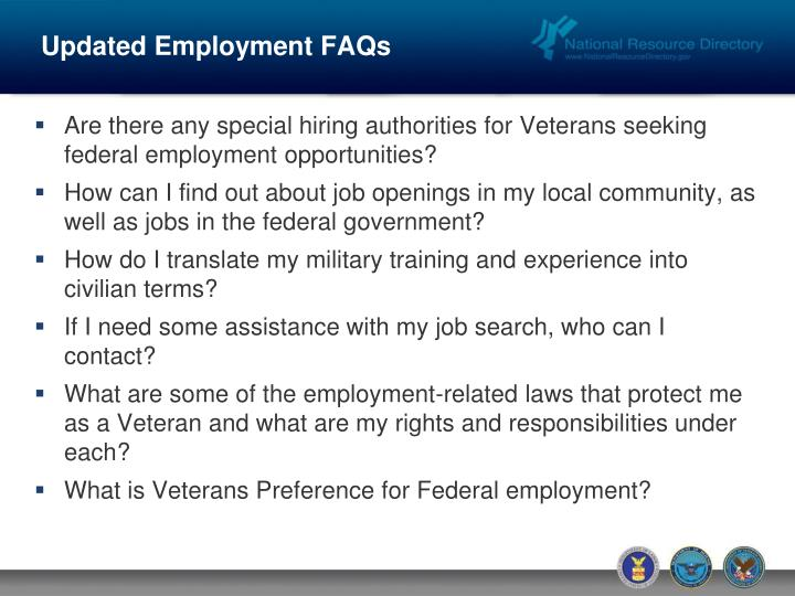 Updated Employment FAQs