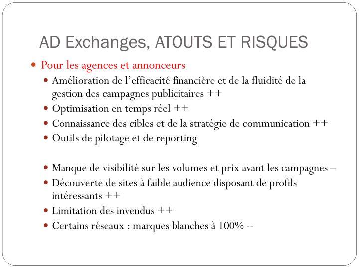 AD Exchanges, ATOUTS ET RISQUES