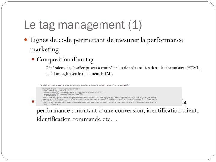 Le tag management (1)
