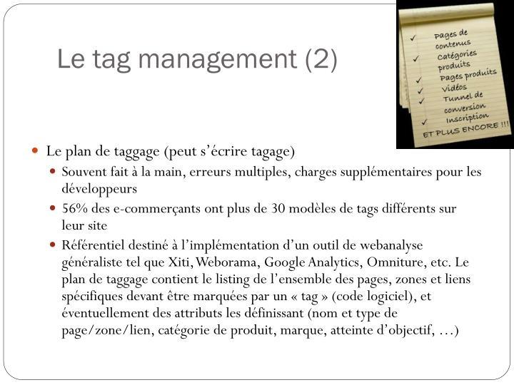 Le tag management (2)