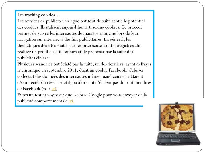 Les tracking cookies…