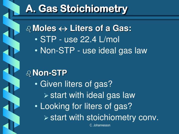 A. Gas Stoichiometry