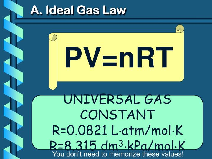 A ideal gas law1