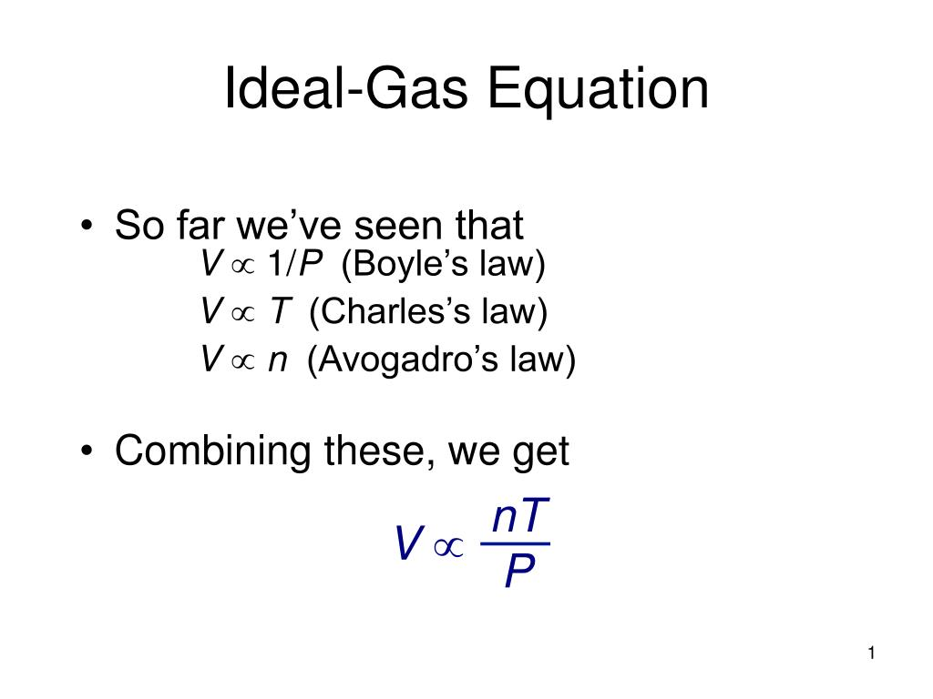 PPT - Ideal-Gas Equation PowerPoint Presentation - ID:3344909
