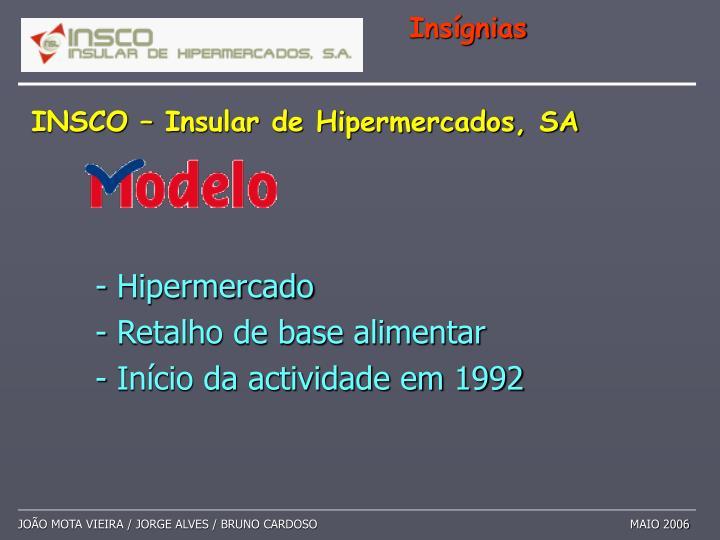 - Hipermercado