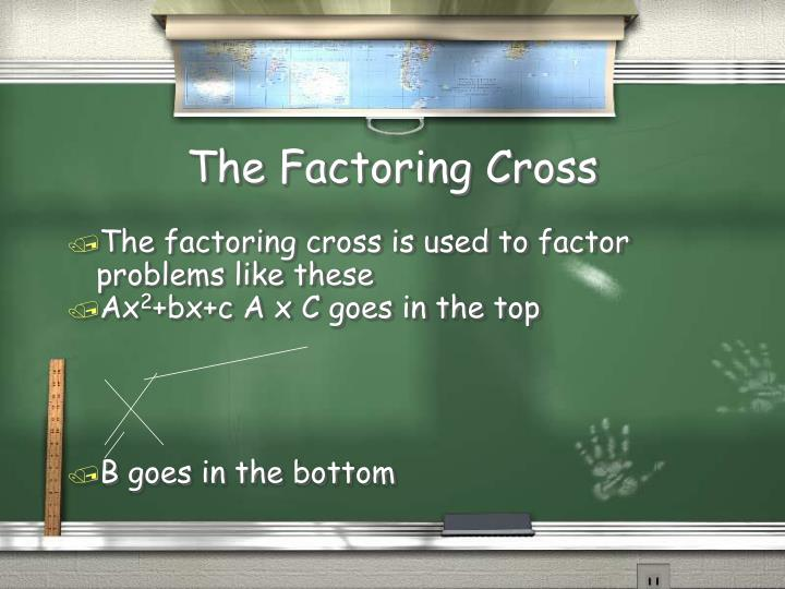 The Factoring Cross