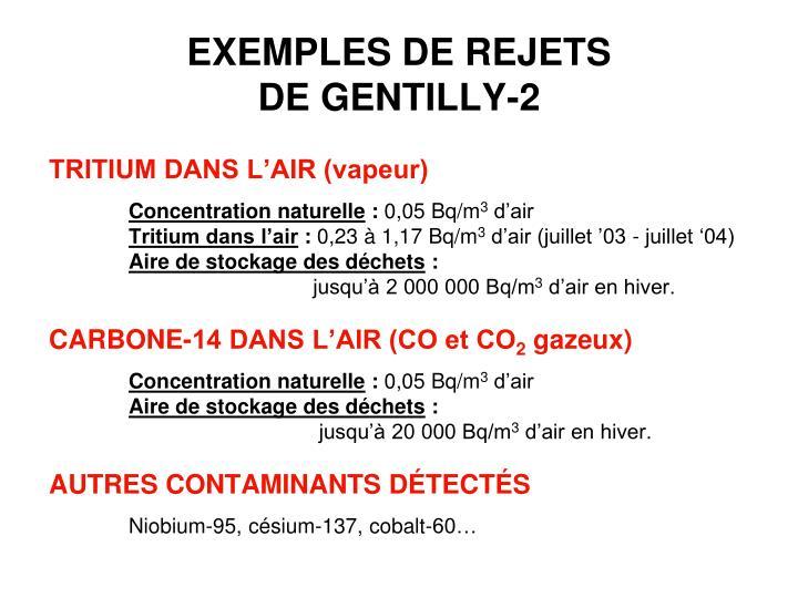 EXEMPLES DE REJETS